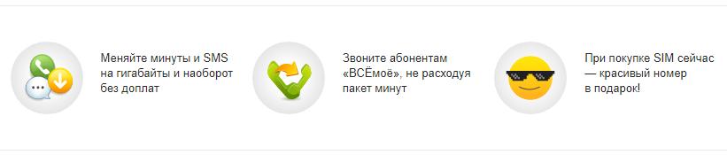 """Тариф Билайн """"ВСЁ моё 4"""""""