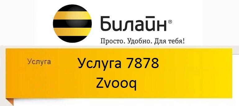 Услуга 7878 Zvooq