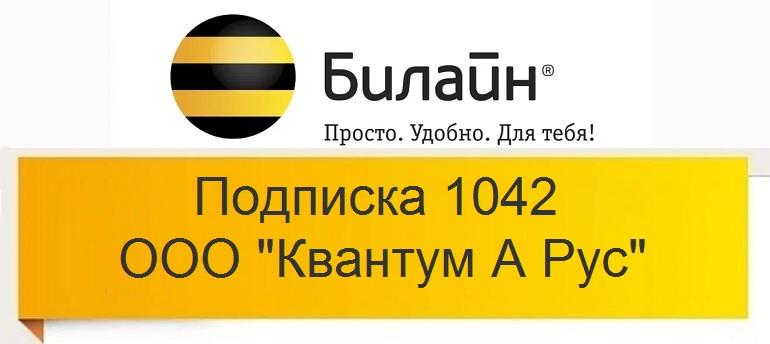 Подписка 1042 от ООО Квантум А Рус